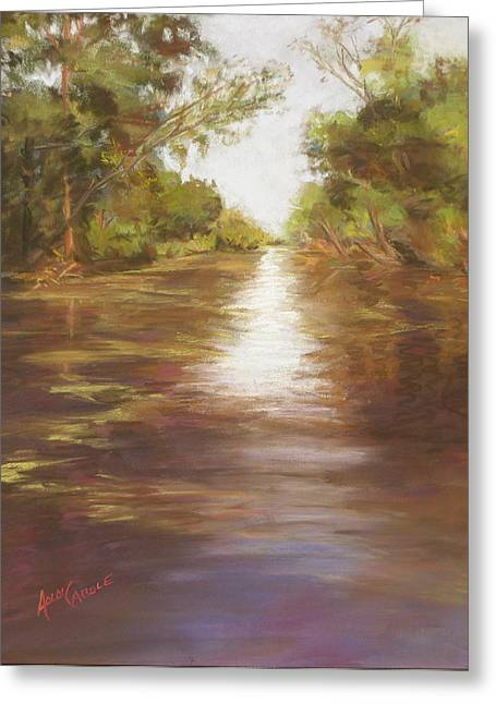 Louisiana Pastels Greeting Cards - Along the Bayou Greeting Card by Ann Caudle