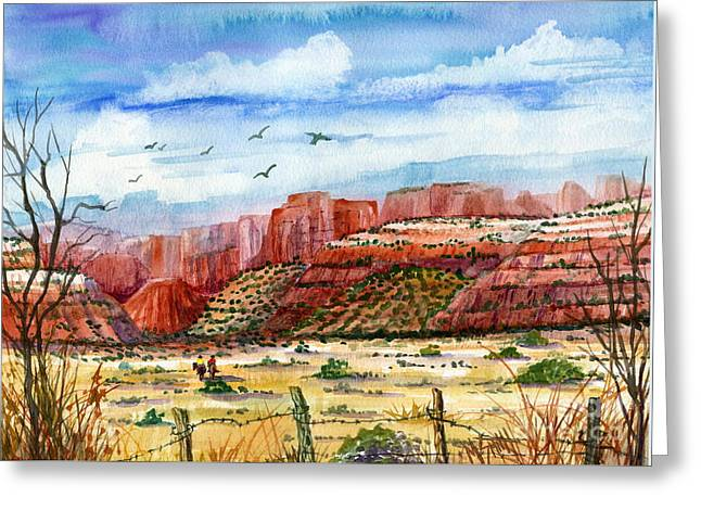 Layer Greeting Cards - Along The New Mexico Trail Greeting Card by Marilyn Smith