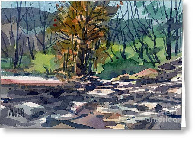 Along The Russian River Greeting Card by Donald Maier