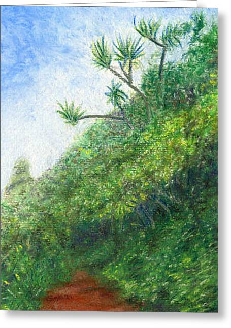 Coastal Decor Pastels Greeting Cards - Along the Trail Greeting Card by Kenneth Grzesik
