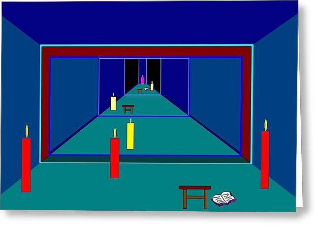 Etc. Paintings Greeting Cards - Along The Way. Greeting Card by Richard Magin