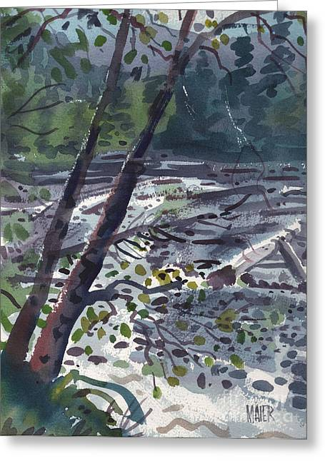White River Greeting Cards - Along the White River Greeting Card by Donald Maier