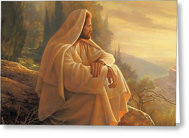 Alpha and Omega Greeting Card by Greg Olsen