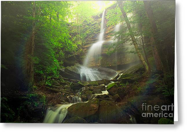 Mcconnells Mill Greeting Cards - Alpha FallsMcConnells Mill Greeting Card by Emmanuel Panagiotakis
