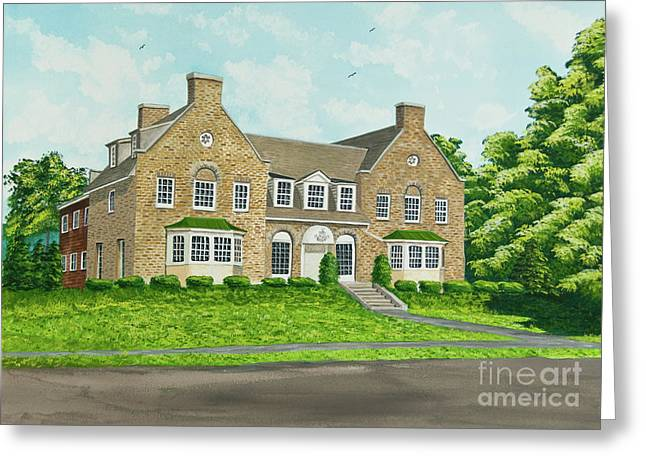 Upstate Paintings Greeting Cards - Alpha Tau Omega Greeting Card by Charlotte Blanchard
