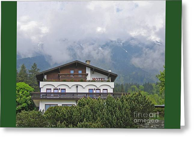 Greeting Cards - Alpine Guest House Greeting Card by Ann Horn