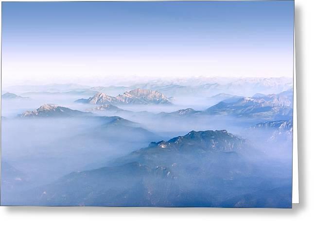 Snow Scene Landscape Greeting Cards - Alpine Islands Greeting Card by Dmytro Korol