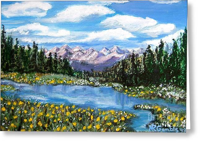 Nancy Rucker Greeting Cards - Alpine Lake Colorado USA Greeting Card by Nancy Rucker