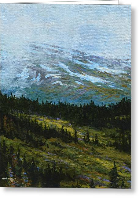 Princes Greeting Cards - Alpine Summer  Greeting Card by Jim Young