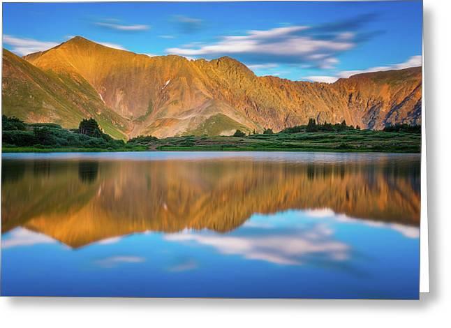 Alpine Sunglow Greeting Card by Darren White