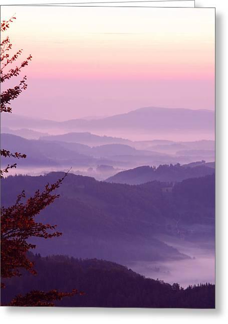 Wien Greeting Cards - Alpine Sunrise Greeting Card by David Waldo