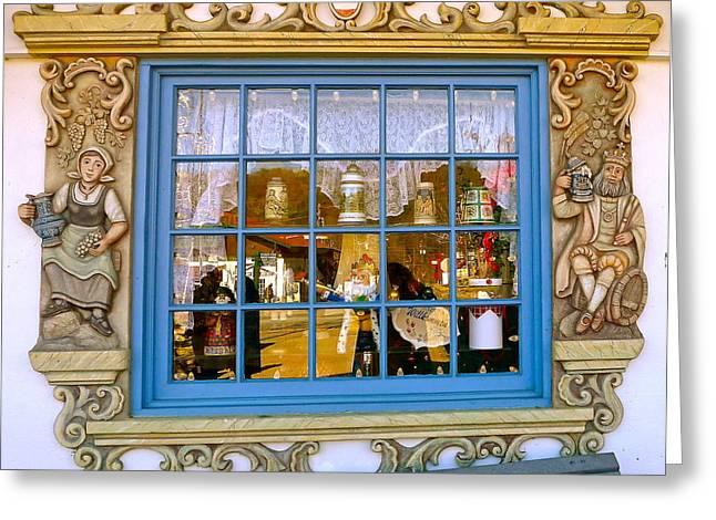 Stein Greeting Cards - Alpine Window Greeting Card by Denise Mazzocco