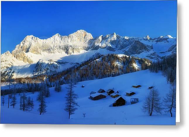 Styria Greeting Cards - Alpine Winter Greeting Card by Franz Josef