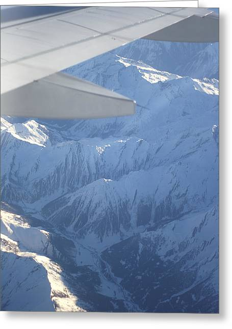 Lufthansa Greeting Cards - Alps Mountain Valley Similar Terrain To Location Of Germanwings Crash Greeting Card by Suzanne Powers