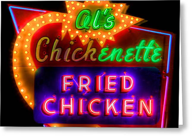 Vintage Sign Greeting Cards - Als Chickenette Greeting Card by Thomas Zimmerman