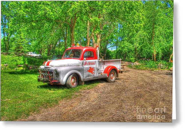 Gravel Road Greeting Cards - Als Mobile Greeting Card by Jimmy Ostgard