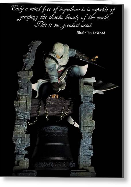 Xbox Greeting Cards - Altair Ibn-LaAhad Greeting Card by Guy Pettingell