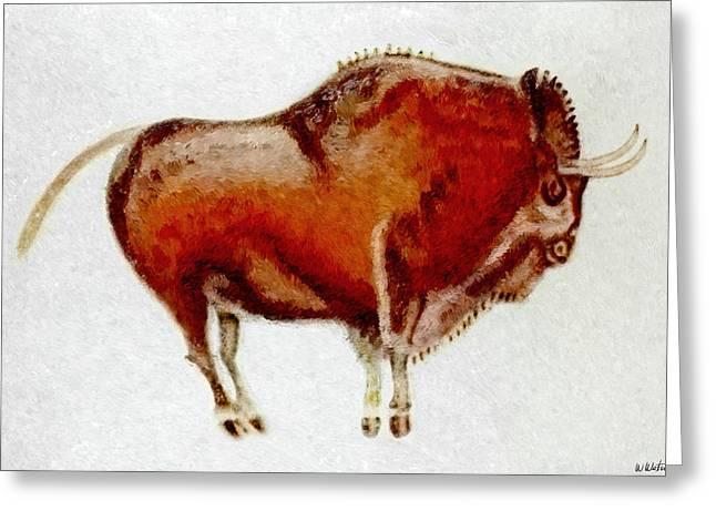 Altamira Prehistoric Bison Greeting Card by Weston Westmoreland