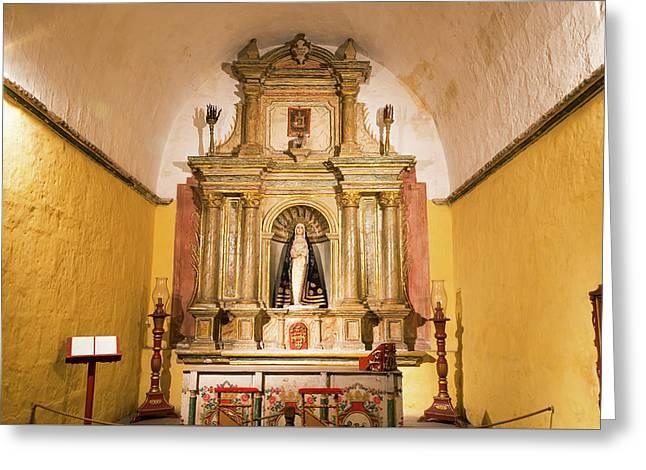 Altar In Santa Catalina Monastery Greeting Card by Jess Kraft