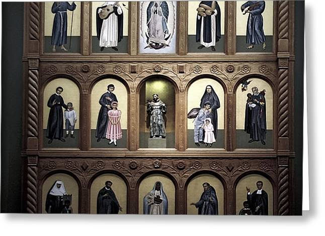 Altar Screen Cathedral Basilica of St Francis of Assisi Santa Fe NM Greeting Card by Christine Till