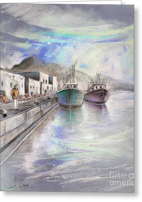 Altea Harbour On The Costa Blanca 01 Greeting Card by Miki De Goodaboom