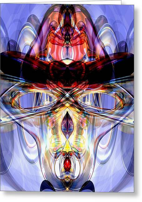 Digital Modified Greeting Cards - Altered States Abstract Greeting Card by Alexander Butler