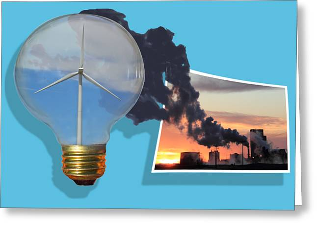 Alternative Energy Greeting Card by Shane Bechler