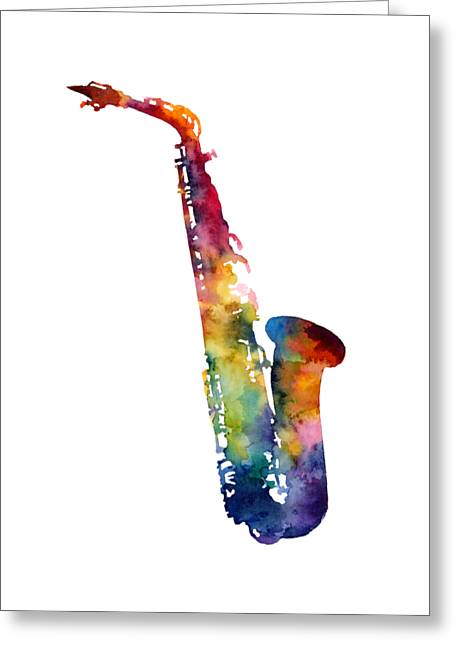 Alto Sax Greeting Card by Hailey E Herrera