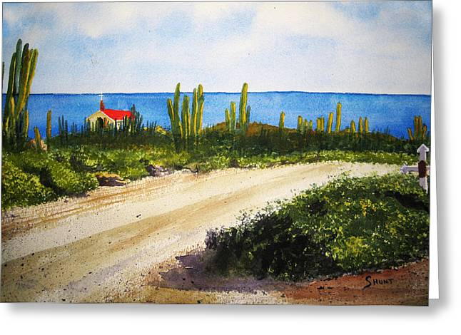 Ocean Landscape Greeting Cards - Alto Vista Chapel Greeting Card by Shirley Braithwaite Hunt