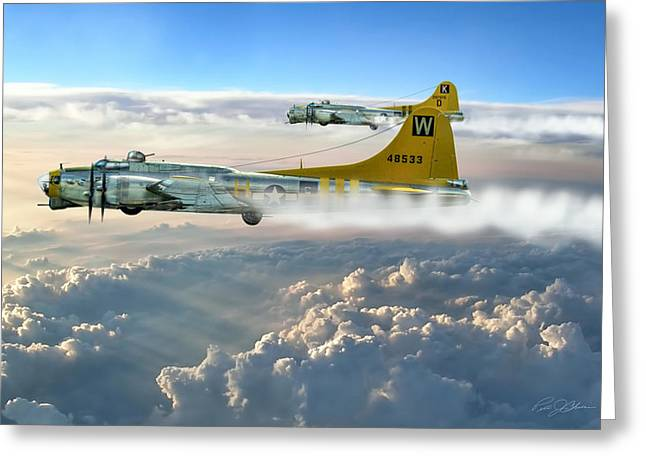 Bit Greeting Cards - Aluminum Overcast Skies Greeting Card by Peter Chilelli
