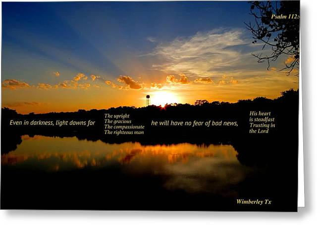 Wimberley Greeting Cards - Always Hope Greeting Card by David  Norman