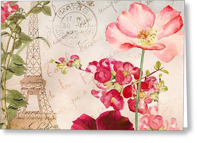 Always Paris Greeting Card by Mindy Sommers