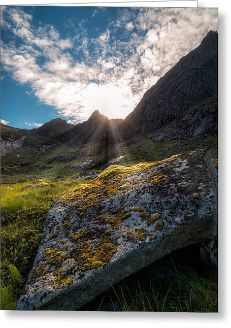 Mountain Valley Greeting Cards - Always sunny in Lofoten Greeting Card by Tor-Ivar Naess
