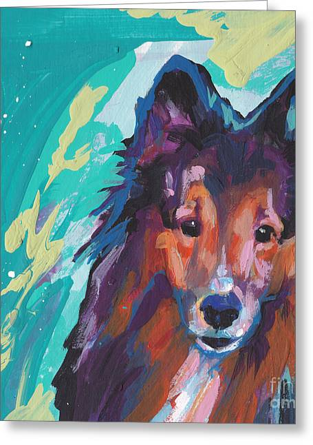 Sheepdog Greeting Cards - Always Yours Greeting Card by Lea