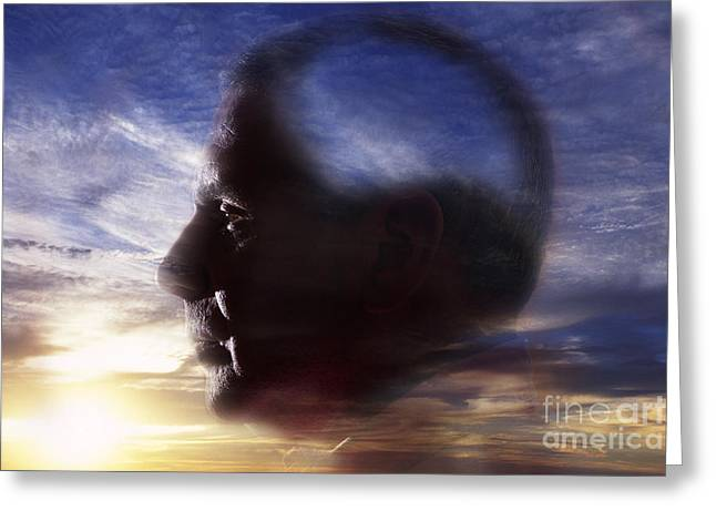 Men; Male; Males; People; Old Greeting Cards - Alzheimers Disease Greeting Card by George Mattei