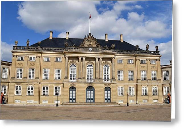 Royal Family Arts Greeting Cards - Amalienborg Palace. Greeting Card by Terence Davis