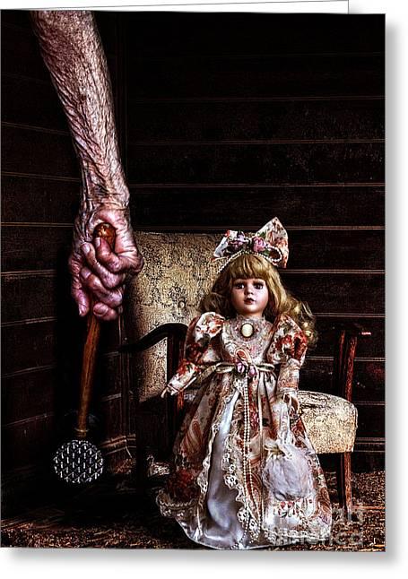 Ghostly Tears Greeting Cards - Amanda Greeting Card by Milan Karadzic