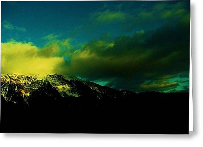 Switzerland Tapestries - Textiles Greeting Cards - Amarelo Greeting Card by Nila  Poduschco