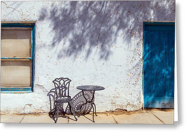 Table And Chairs Photographs Greeting Cards - Amargosa Opera House Greeting Card by Mike Ronnebeck