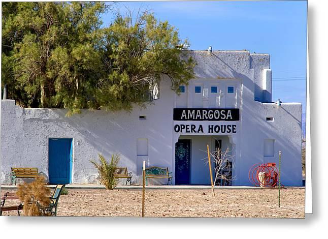 Fineartamerica Greeting Cards - Amargosa Opera House Greeting Card by Tomasz Dziubinski