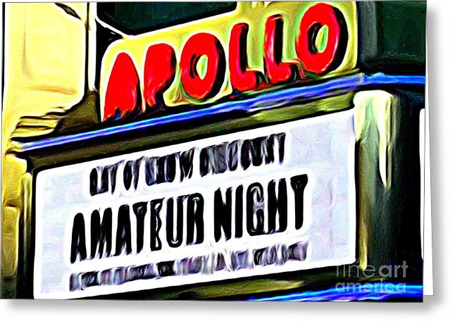 Amateur Night Greeting Card by Ed Weidman