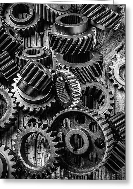 Amazing Gears Greeting Card by Garry Gay