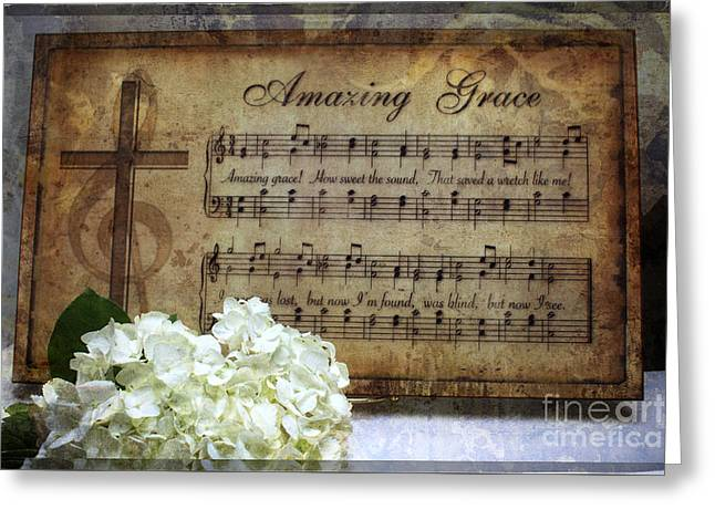 Forgiveness Greeting Cards - Amazing Grace - Christian Home Art Greeting Card by Ella Kaye Dickey