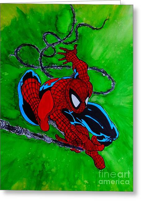 Pen Greeting Cards - Amazing Spider Man 301 Greeting Card by Justin Moore