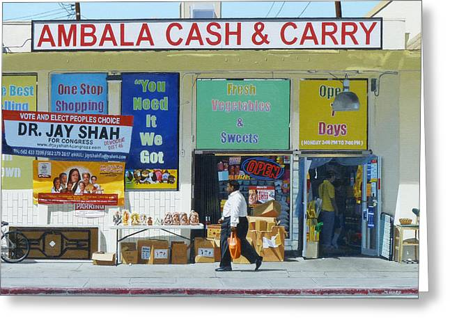 Ambala Cash And Carry Greeting Card by Michael Ward