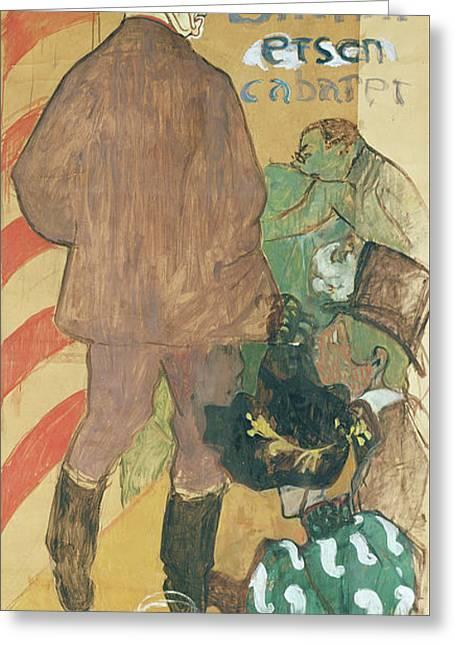 Ambassadeurs, Aristide Bruant And His Cabaret Greeting Card by Henri de Toulouse-Lautrec