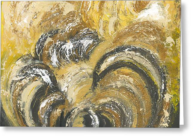 Amber Is The Color Of Your Energy Greeting Card by Ania M Milo