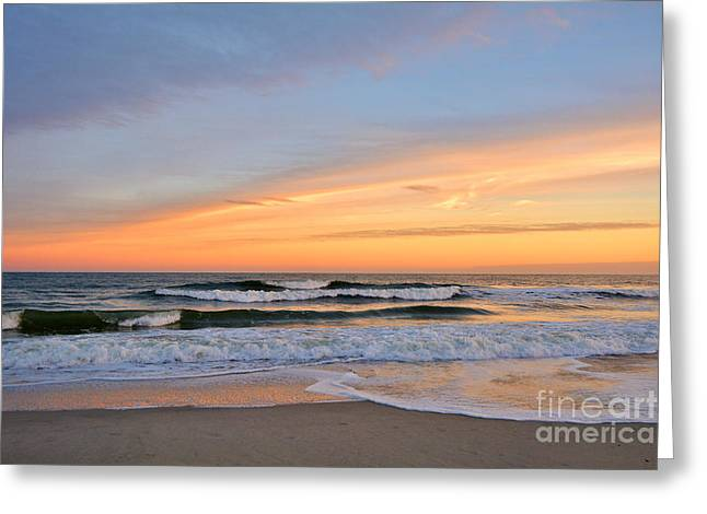 Kelly Greeting Cards - Amber Light at Twilight Greeting Card by Kelly Nowak