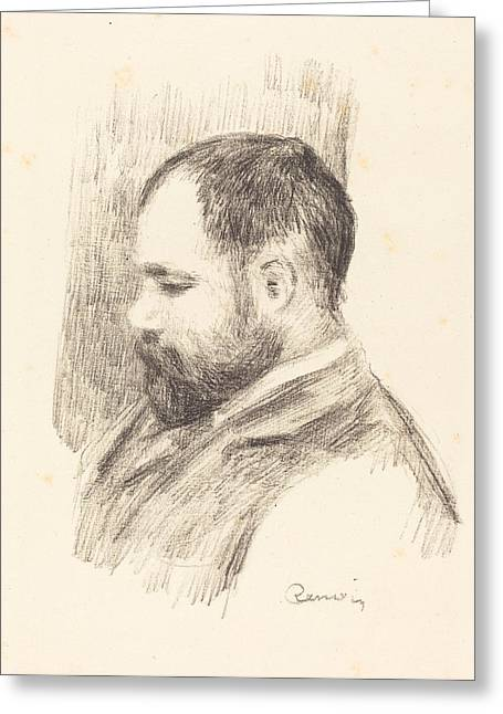 Famous ist Drawings Greeting Cards - Ambroise Vollard Greeting Card by Auguste Renoir
