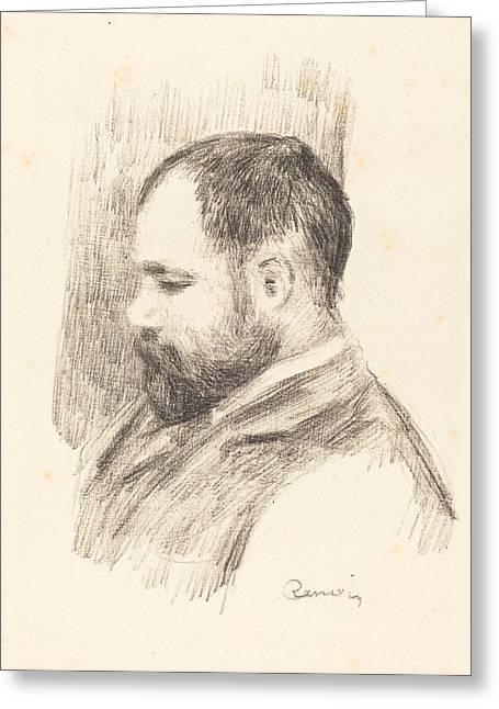 Shading Drawings Greeting Cards - Ambroise Vollard Greeting Card by Auguste Renoir